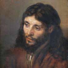 Head of Christ *oil on panel *25 x 21.7 cm *circa 1648
