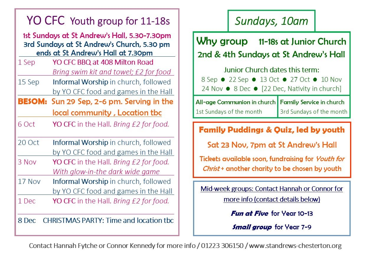 Youth – St Andrew's Church, Chesterton